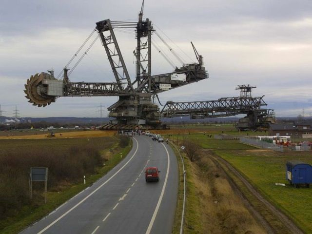 Most people associate the brand Krupps with tiny coffeemakers. But a larger German conglomerate called Krupp has built something way bigger: the Bagger 288, a ginormous excavator that is technically the world's largest land vehicle. The towering Bagger stands some 311 feet tall, is 705 feet long and weighs 45,500 tons. The world's previously largest land vehicle, the puny 26-foot-tall platform NASA used to tow the Space Shuttle from one cancellation to another, pales in comparison.