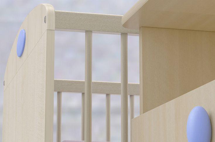 Nelli light blue crib and cupborad detail / világoskék Nelli babaágy és pelenkázó komód részlet