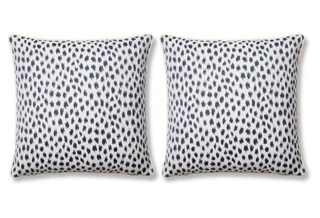 S/2 Agra 20x20 Sunbrella Pillows, Indigo