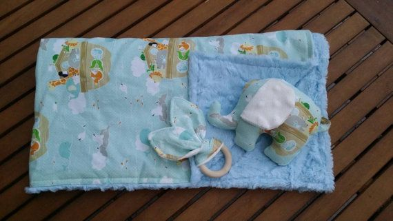 Check out this item in my Etsy shop https://www.etsy.com/listing/207352383/baby-blanket-with-matching-soft-toy