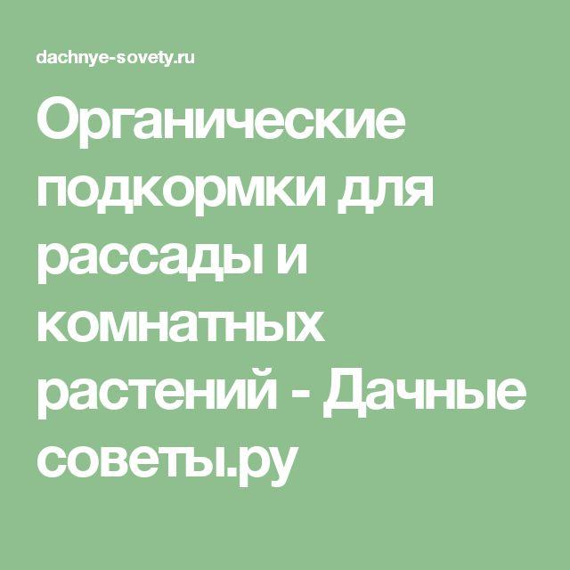 Органические подкормки для рассады и комнатных растений - Дачные советы.ру