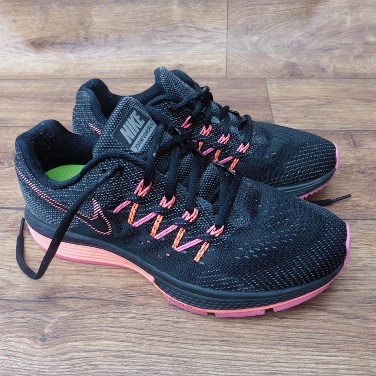 SIZE UK 5 NIKE ZOOM VOMERO 10 BLACK PINK RUNNING SHOES GYM SHOES TRAINERS   eBay