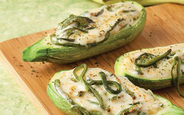 Receta de calabacitas gratinadas con rajas   ¡Simplemente una receta deliciosa! Visita www.cocinavital.mx platillos para todos los días