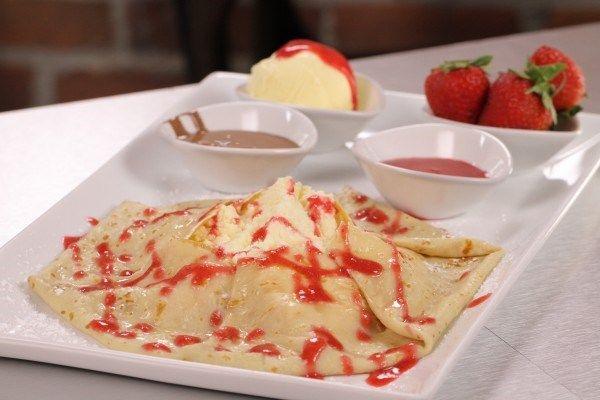 Strawberry and Cheesecake Crepe