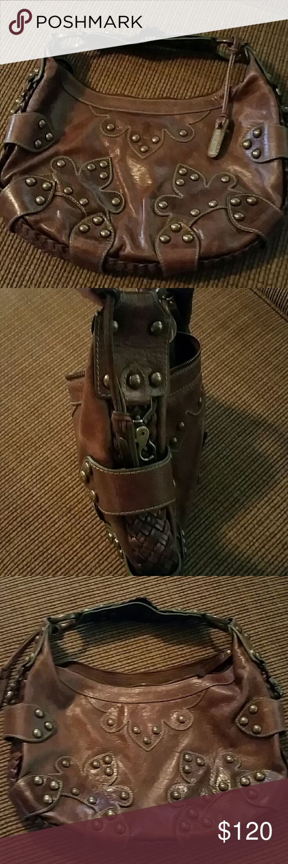 Isabella fiore distressed leather oasis bag Great condition used lightly - very substantial hardware just a beautiful handbag Isabella Fiore Bags