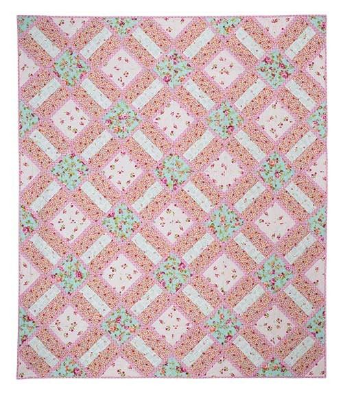 Garden Trellis Quilt Pattern Rail Fence Amp Solid Blocks