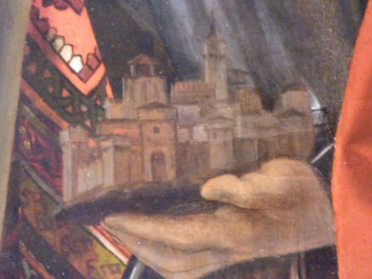 La città di Treviso nella mano di s.Liberale.Pala di S.Cristina. Lorenzo Lotto.