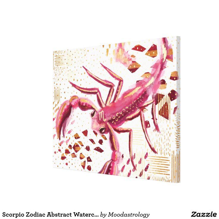 Scorpio Zodiac Abstract Watercolour Wall Art