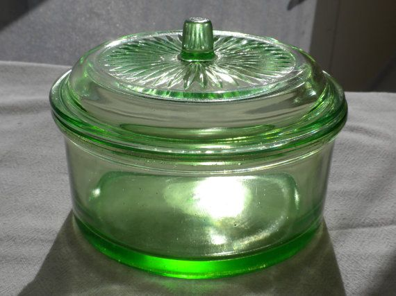 Hazel Atlas Utility Jar Green Hazel Atlas by AngiezillasBoutique