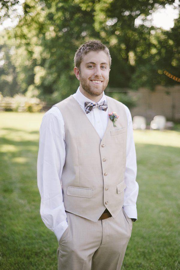 beauteous backyard wedding vests groomsmen and blue ties