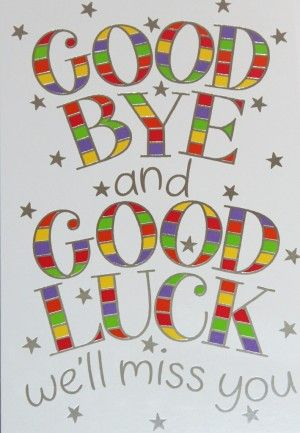 107 best Miss you\/ goodbye card ideas images on Pinterest - free farewell card template