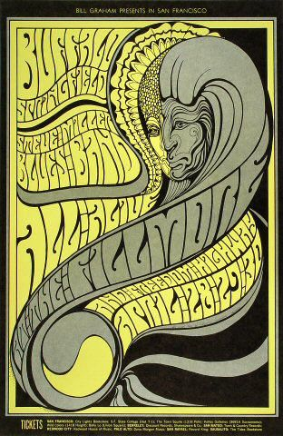 Fillmore+vintage+posters | ...   Steve Miller Blues Band, Freedom Highway Fillmore Poster BG61 BG-61