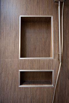 Shower niche with schluter metal edges  17221 schluter