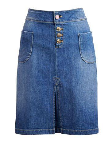 joules anouska womens knee length denim skirt denim if