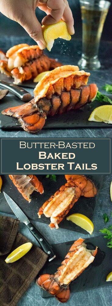 Butter-Basted Baked Lobster Tails Recipe via @foxvalleyfoodie