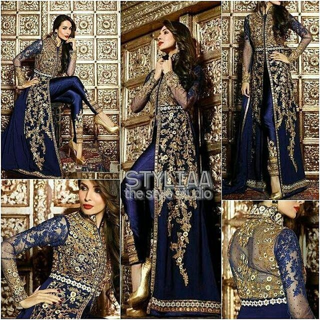 #MaliakaArorakhan : Launching exclusively an exquisite Star collection for Eid 2016. #BuyOriginal #TrustedWorldwide #BOOKINGS: 917405674722  www.styliaa.com INR  4200 (including shipping in india)  USD $ 88(including shipping to USA) GBP  57(including shipping to UK). Customized Stitching rates (20$/14) #styliaa #musthave #indian #anarkali #f4f #usa #canada #singapore #australia #indianwardrobe #indianfashion #worldwide #love #hongkong #southafrica #asians #salwarkameez #saree #RepostIt_app…