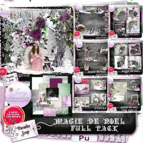 **NEW** Magie de Noel by JosyCréations Créations  Available @ http://www.paradisescrap.com/fr/112_josy-creations