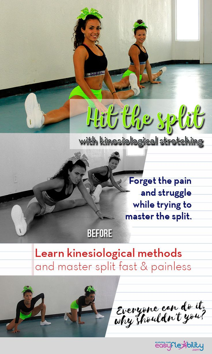 Anyone can get full splits, so why haven't you got your splits yet?  #split #flexibility #flexing #exercise #fit #strong #muscles #kinesiologoical #stretching #Front #side #yoga #dance #cheer #cheerleading #Training