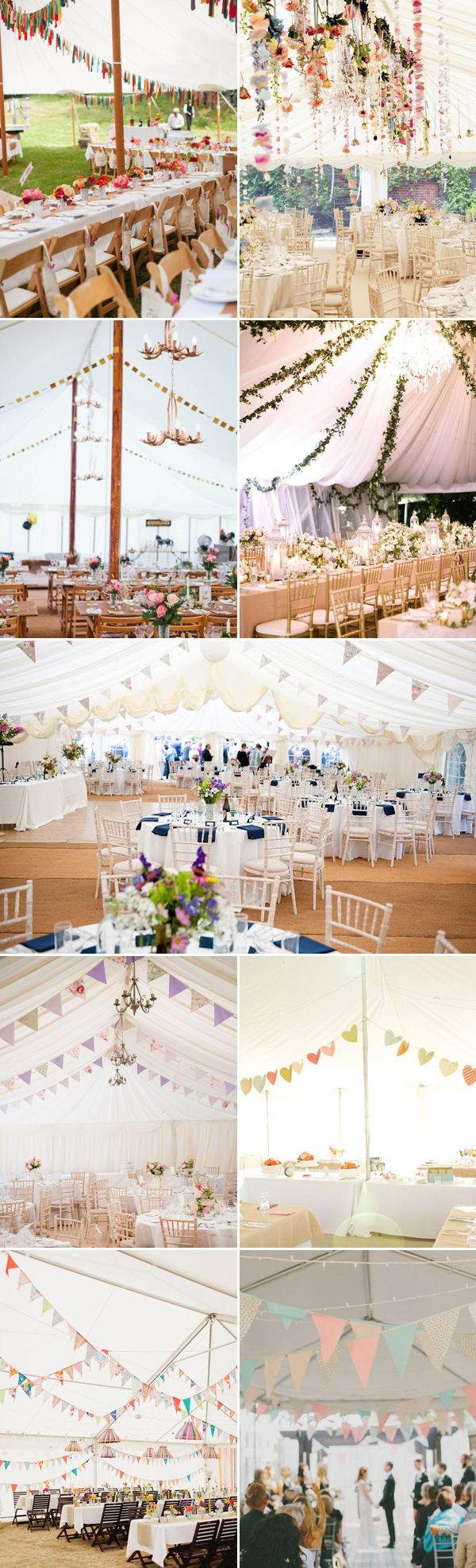 40 Beautiful Ways to Decorate Your Wedding Tent - Bunting and Garland