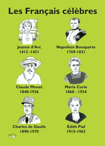 Poster (A3) - Les Français Célèbres
