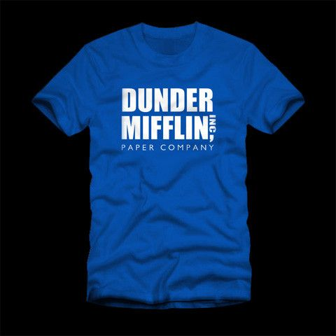 Dunder Mifflin T-Shirt This cool Dunder Mifflin T-Shirt has been inspired by the hit show The Office. This Dunder Mifflin T-Shirt would be a funny t-shirt to wear out on any occasion. Poputees.com is