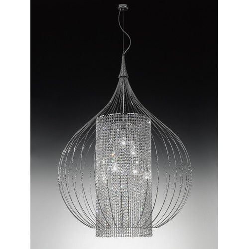 From the designer lighting brand metallux comes the goccia range this is the large hanging light from the range and comes with a choice of finishes