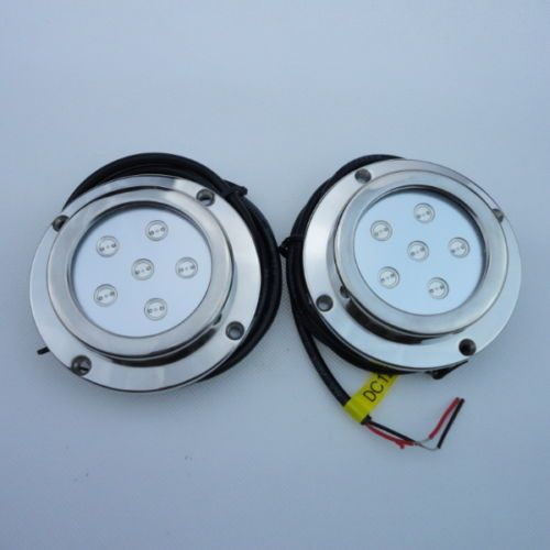 99173 boat-parts 2 Pieces 6W BLUE Color Stainless Steel Underwater  Boat Marine LED Light  BUY IT NOW ONLY  $114.0 2 Pieces 6W BLUE Color Stainless Steel Underwater  Boat Marine LED Light...