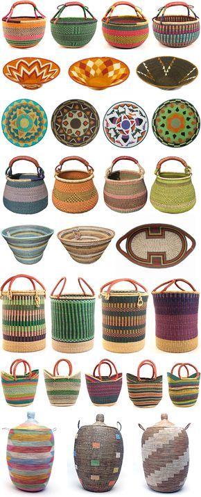 African Baskets : pour mètre les couvertures du canapé et les bouillottes