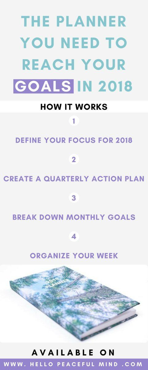 2018 Planner To Be Productive and Reach Your Goals