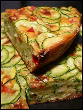 """Gateau aux courgettes. """"Repinned by Keva xo""""."""