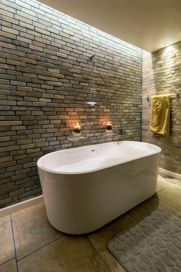 Grey limestone bathroom with a contemporary style