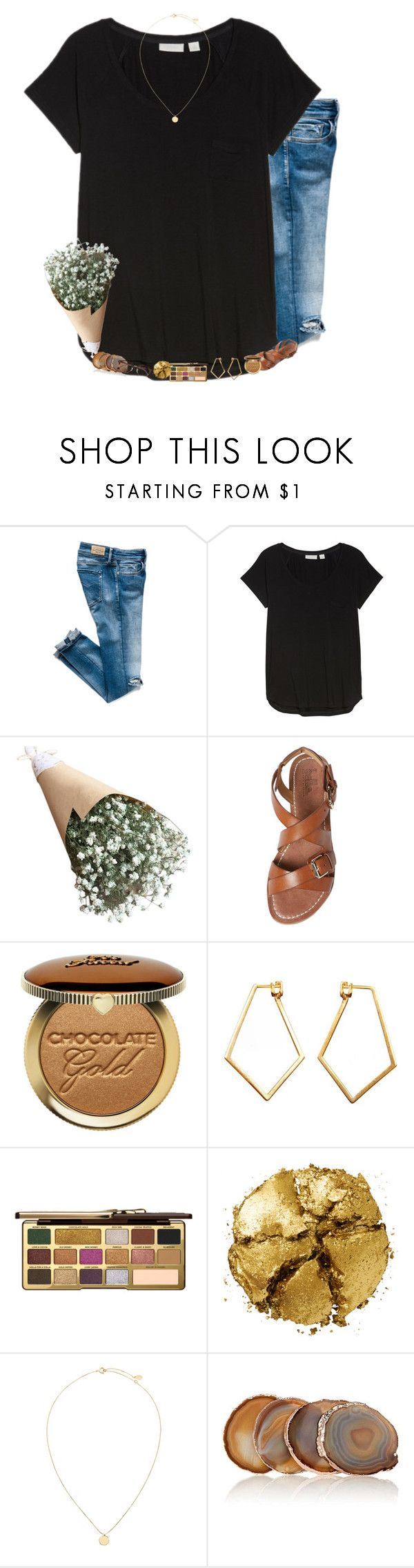 """I am on the run and go"" by mac-moses ❤ liked on Polyvore featuring Nordstrom, belle by Sigerson Morrison, Dutch Basics, Too Faced Cosmetics, Pat McGrath, ANNA by RabLabs and Ray-Ban"