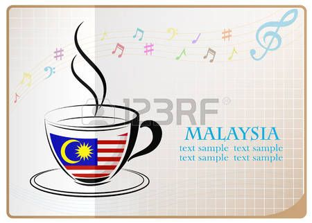 coffee logo made from the flag of Malaysia