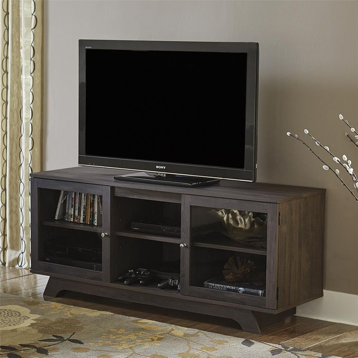 Ameriwood Home Altra Englewood 55-inch Dark Grey Oak TV Stand