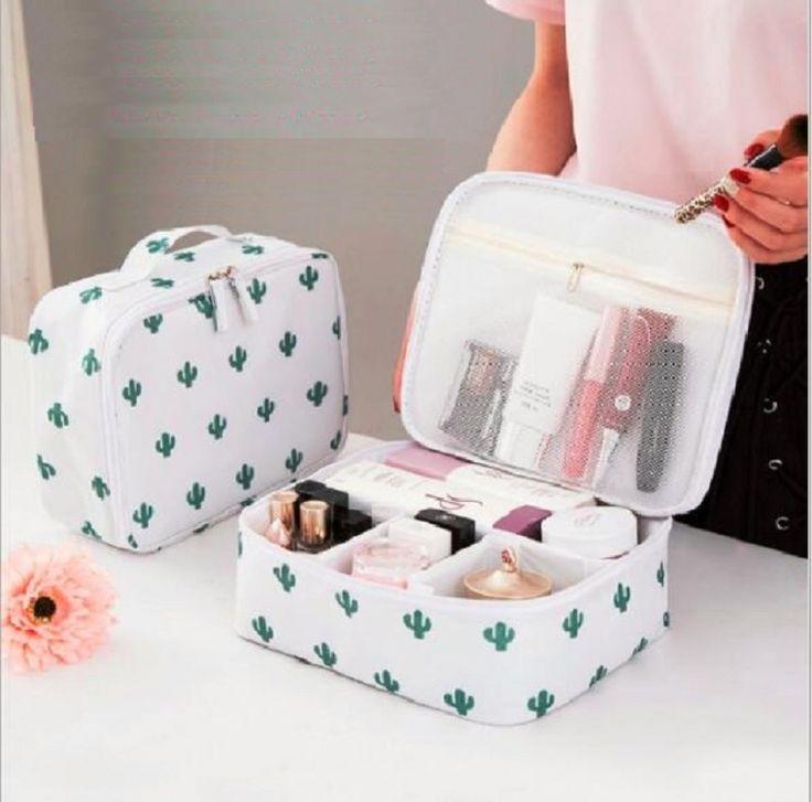 Bolsa de cosméticos impresa en múltiples bolsillos