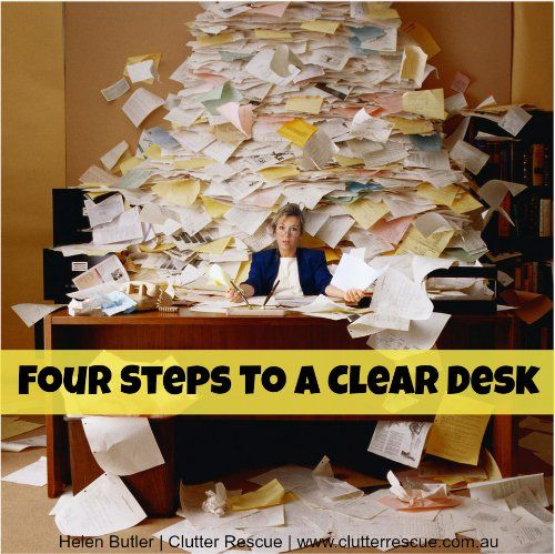 Four-steps-to-a-clear-desk