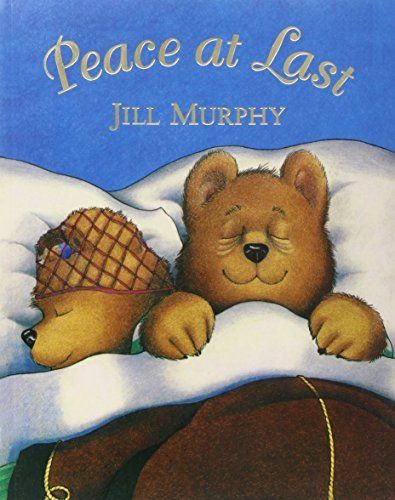 Will Mr Bear ever be able to find a quiet place to sleep in Jill Murphy's classic picture book, Peace at Last?