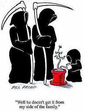 a little grim reaper awwww