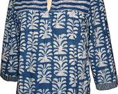 Antique top - Indigo Palm