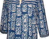 Antique top - Indigo Palm