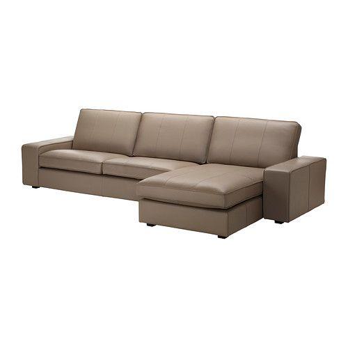 KIVIK Divano a 3 posti e chaise-longue - Grann/Bomstad beige - IKEA
