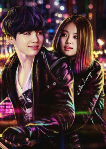 YoonJen/JenGi #Yoongi (#Suga)  #Jennie #BTS #Blackpink  #Art