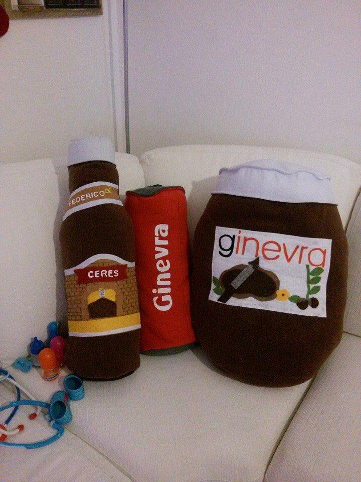 Kit di cuscini per una cara cliente! #nutella #ceres #cocacola #cuscino
