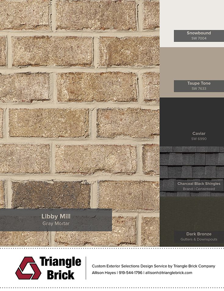 Sherwin-Williams' Color of the Month Caviar paired with TBC brick