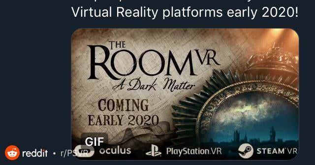Psvr Games 2020.The Room Vr A Dark Matter Has Just Been Announced For