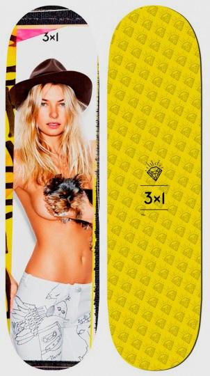 Американская марка 3×1 совместно с английским фотографом Беном Уотсом выпустила коллекцию дек для скейтбординга с нанесенными на них фотографиями полуобнаженных моделей — Джессики Харт, Лэйк Белл и Эльзы Хоск.  #lookatme