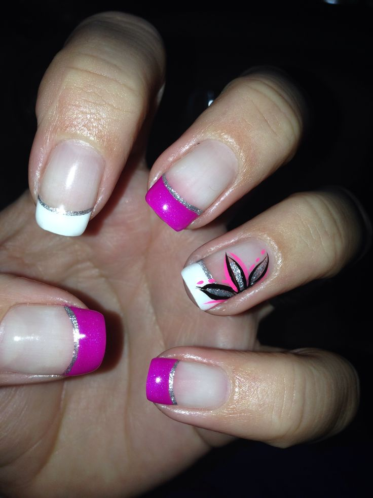 42 best my nail art designs images on pinterest nail art designs pink white gel nail design with pretty flower nail designs my nails prinsesfo Choice Image
