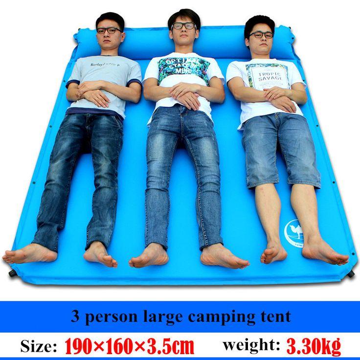 CAMEl Outdoor Air Mattress Inflatable Foam Utralight Sleep Camping Big air Pad 3 Person 2 Colors Automatic Camping Mat
