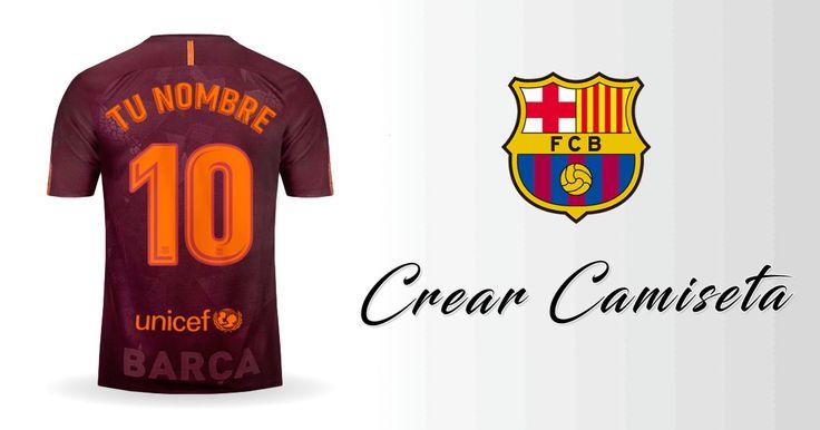 Crear Camiseta de FC Barcelona 2017/2018 Tercero con tu Nombre