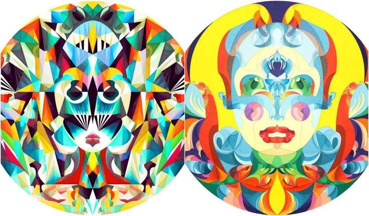 La ilustradora rumana Anai Greog ha enfocado su trabajo a la creación de ilusiones ópticas dentro de círculos que juegan con nuestra mente.